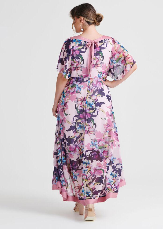 Majestic Flora Dress, , hi-res