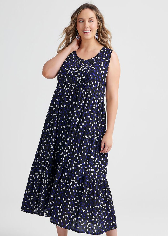 Natural Bubbles Dress, , hi-res