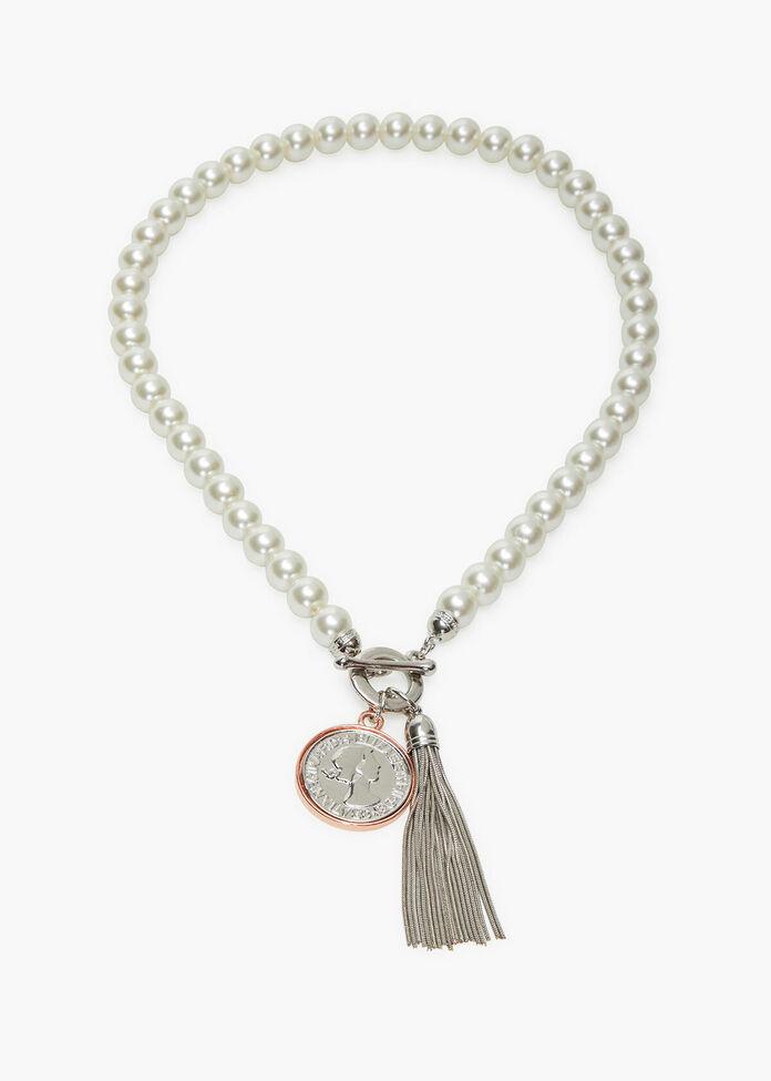 Pearl Tassel Necklace, , hi-res
