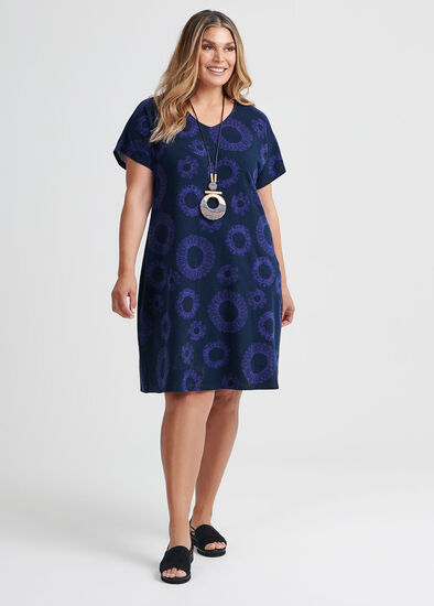 Cotton Swirl Print Dress
