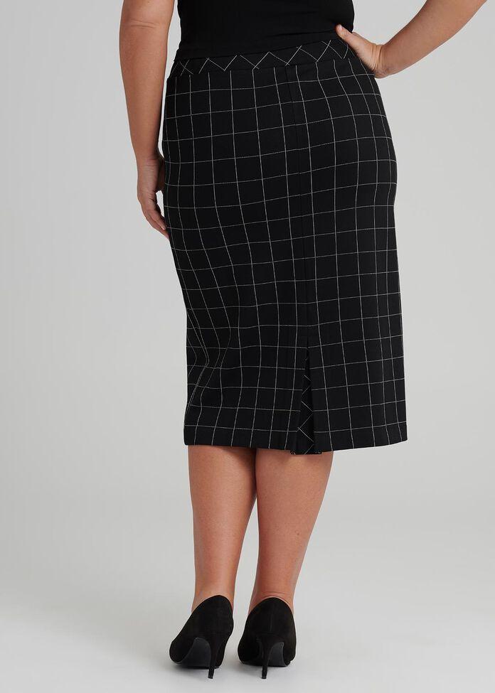 Checkmate Pencil Skirt, , hi-res