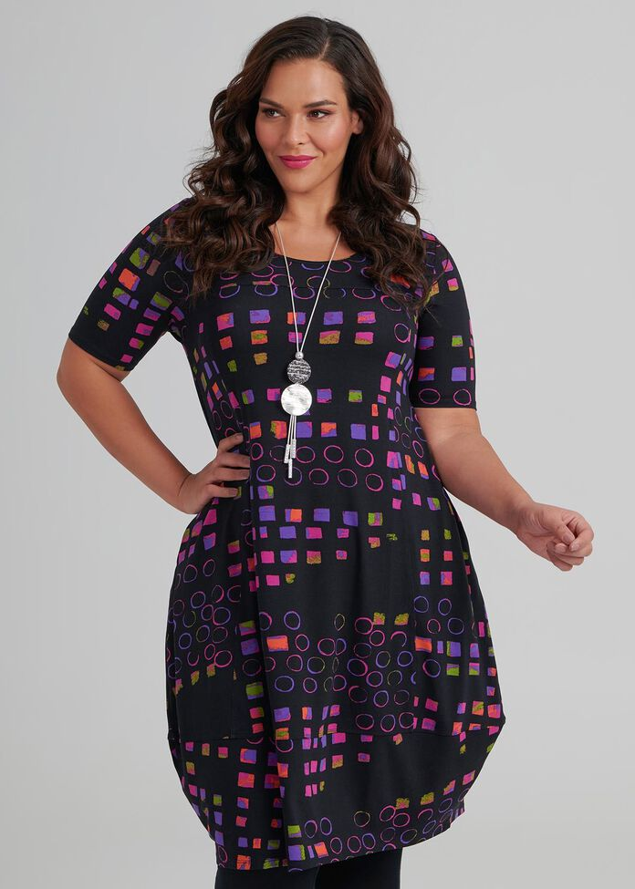 Quatro Short Sleeve Dress, , hi-res