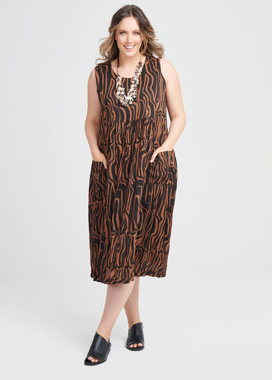 Cotton Tribal Print Dress
