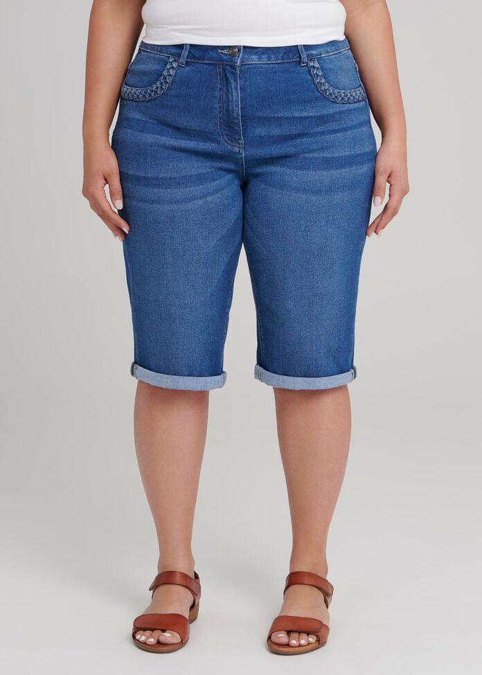 Bamboo Denim Short, , hi-res
