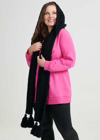 Tassel Hooded Scarf