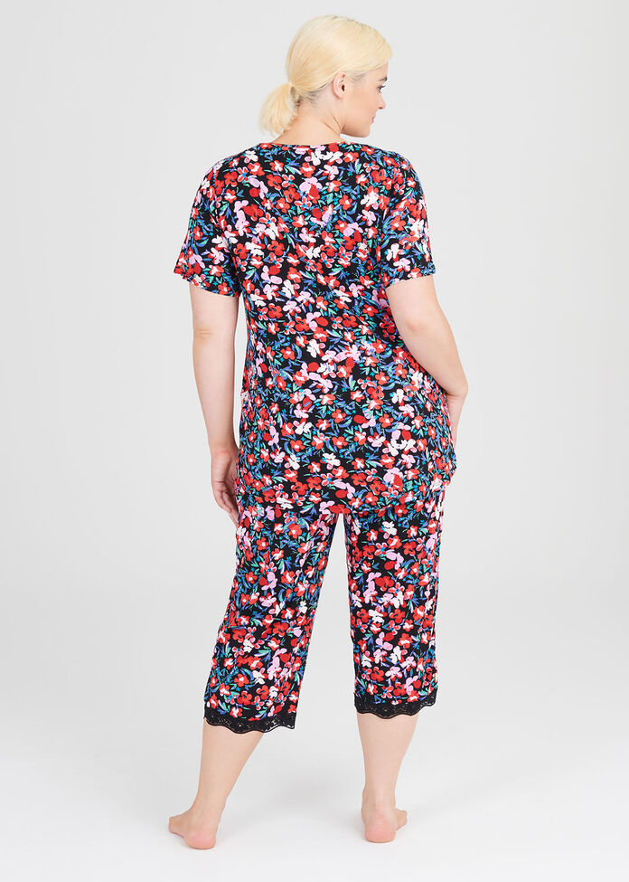 Natural Print Pj Top, , hi-res