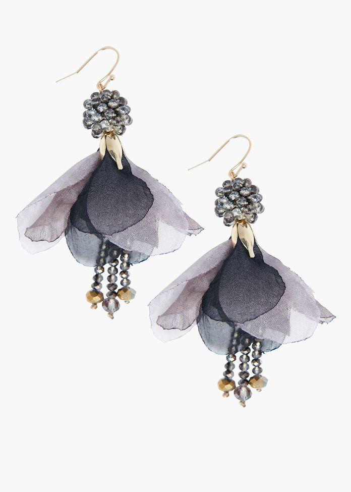 Fuchsia Flower Earrings, , hi-res