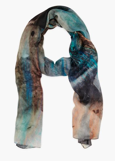 Water Wall Silk Scarf
