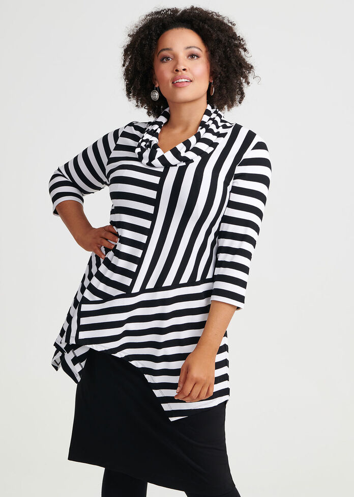 Stripe In Time Tunic, , hi-res