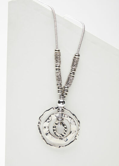 Silver Multi Ring Necklace