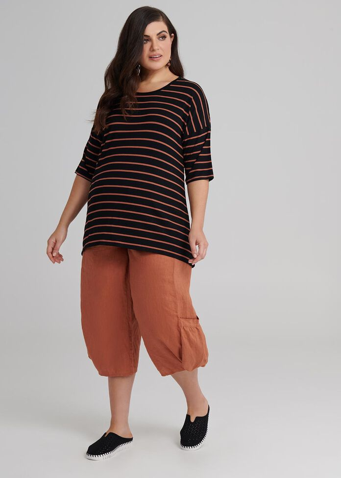 Stripe Bamboo Top, , hi-res