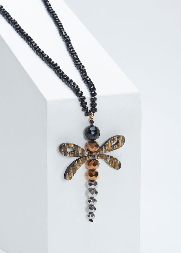 Crystal Dragonfly Necklace, , hi-res