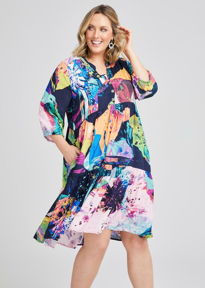 Clair Natural Tier Dress, , hi-res