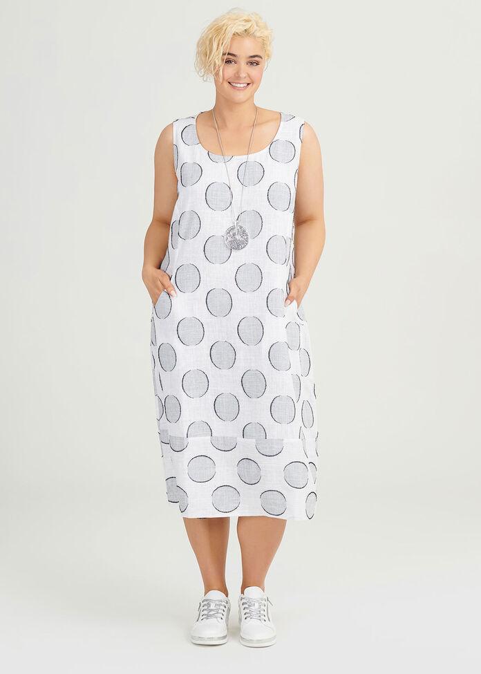Linen Ascot Dress, , hi-res