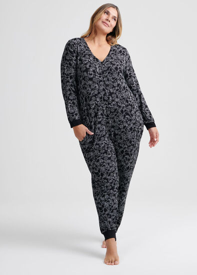 Floral Bamboo Lounge Onesie