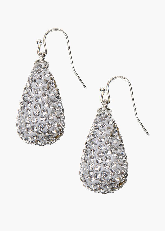 Crystal Drop Earrings, , hi-res