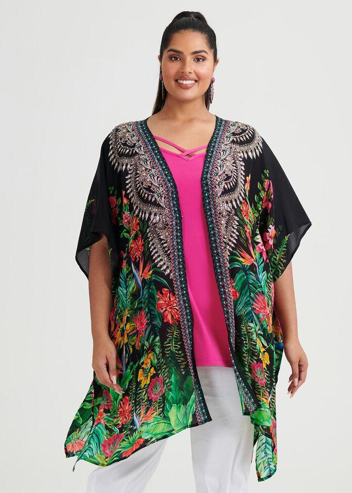 Eden Viscose Kimono, , hi-res