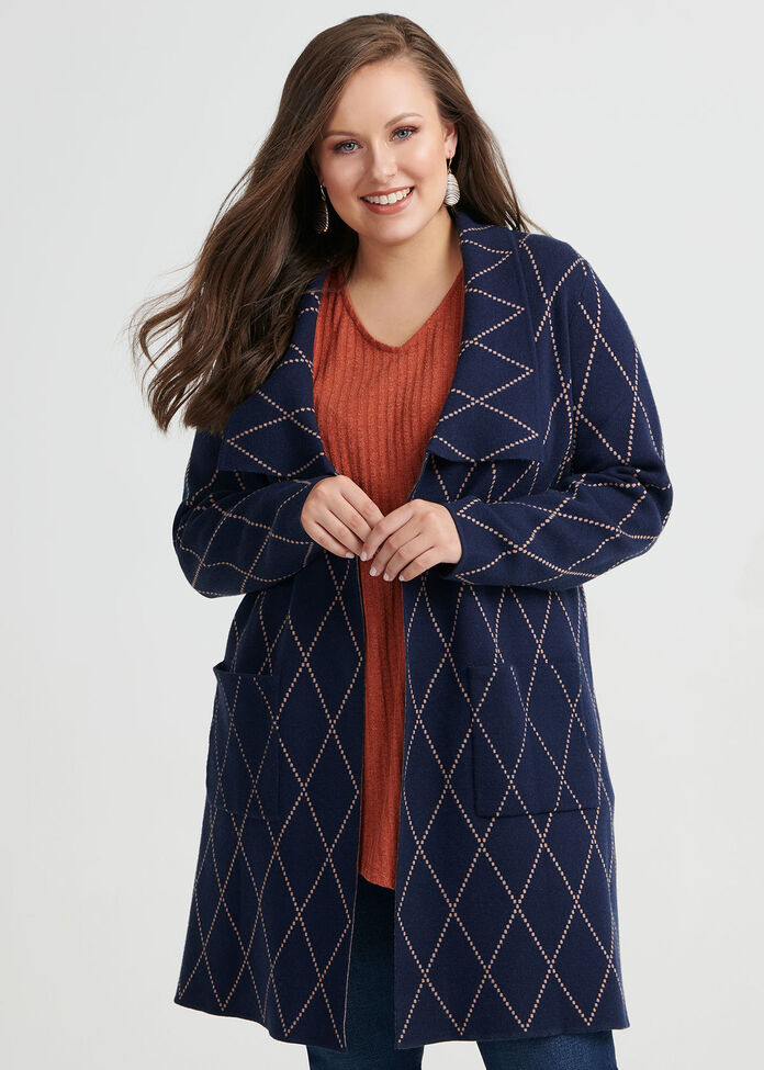 Twilight Check Cardigan, , hi-res