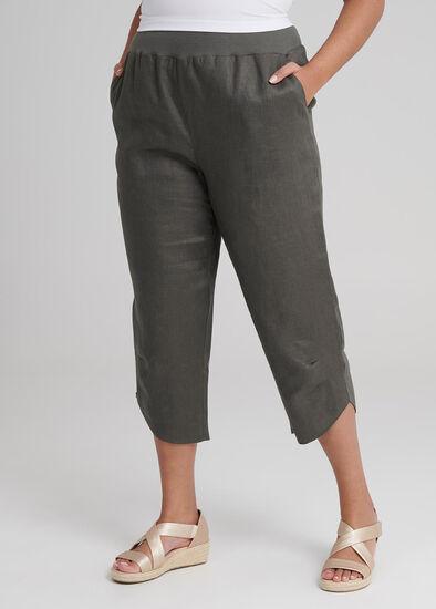Linen Bahati Crop Pant