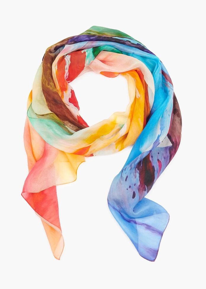 Hello Lady Silk Scarf, , hi-res