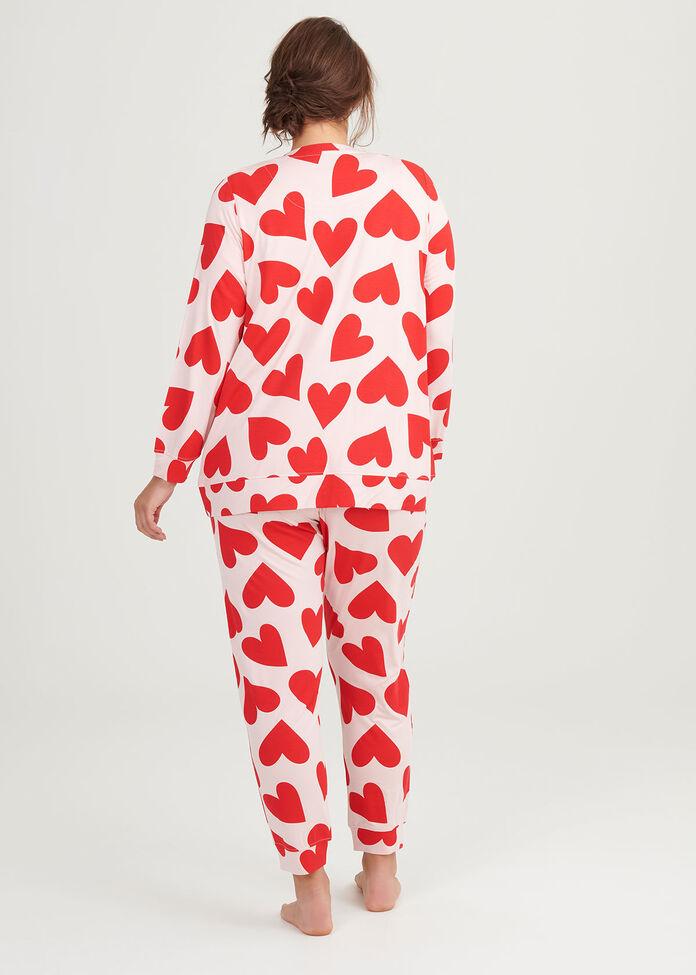Bamboo Red Hearts Top, , hi-res