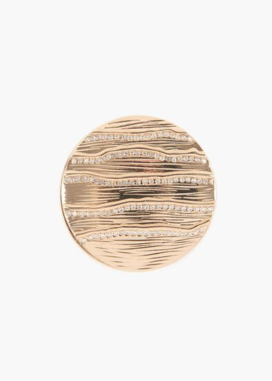Glimmer Disc Brooch