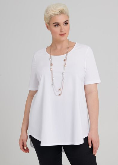 Cotton Base Short Sleeve Top