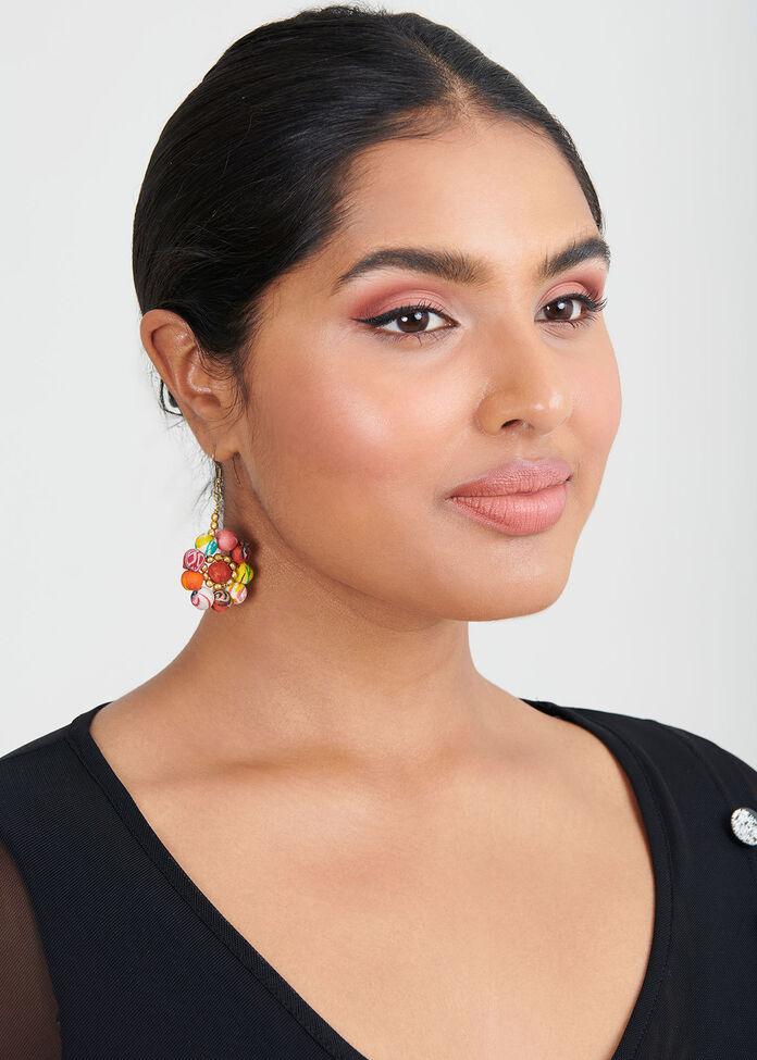 Kantha Flower Earring, , hi-res