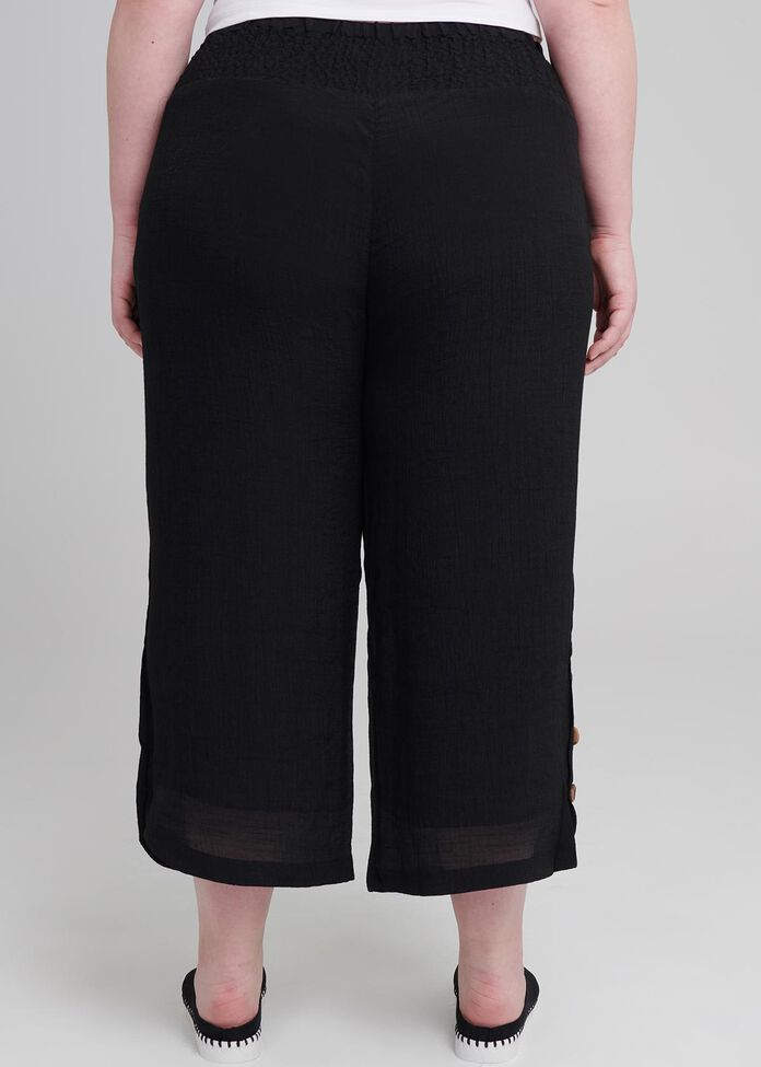 Tall Button Crop Pant, , hi-res