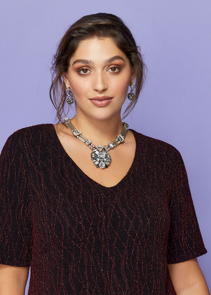 Crystal Pendant Necklace, , hi-res