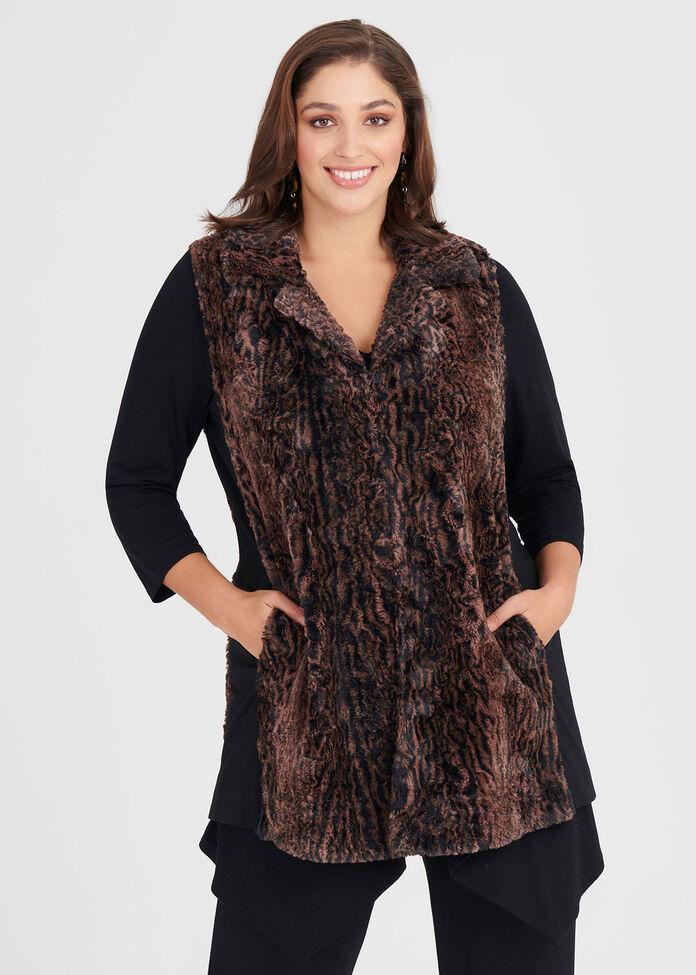 Wild Ways Faux Fur Vest, , hi-res