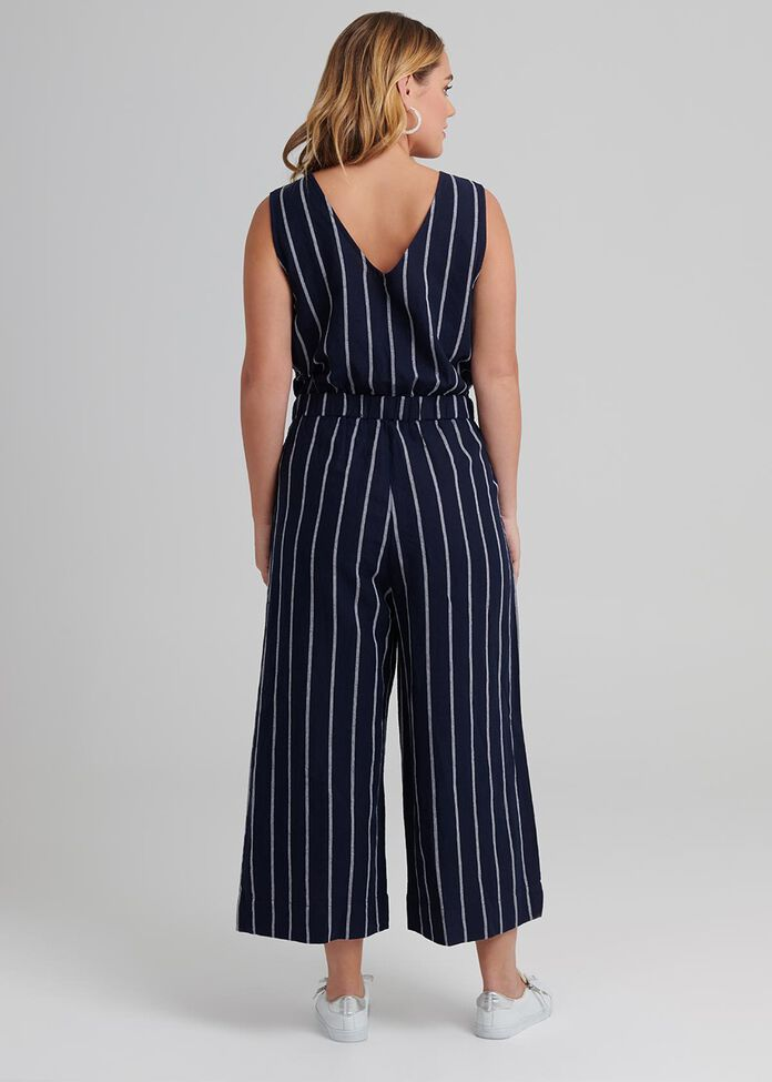 High Tide Linen Jumpsuit, , hi-res