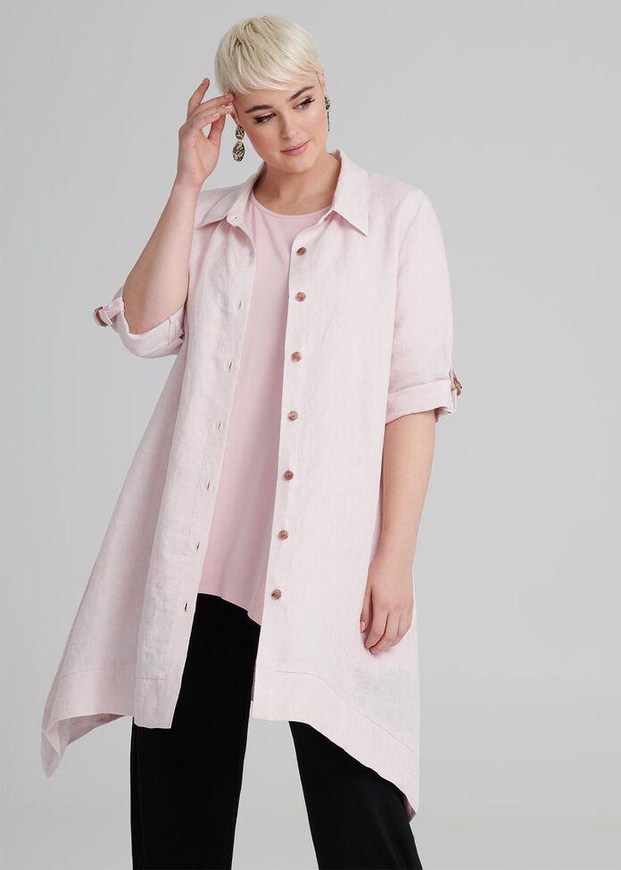 Peony Linen Shirt, , hi-res