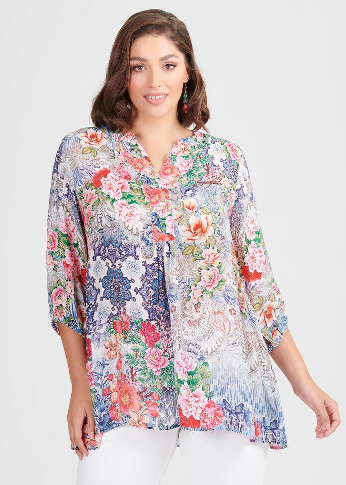 Natural Bloom Tunic, , hi-res