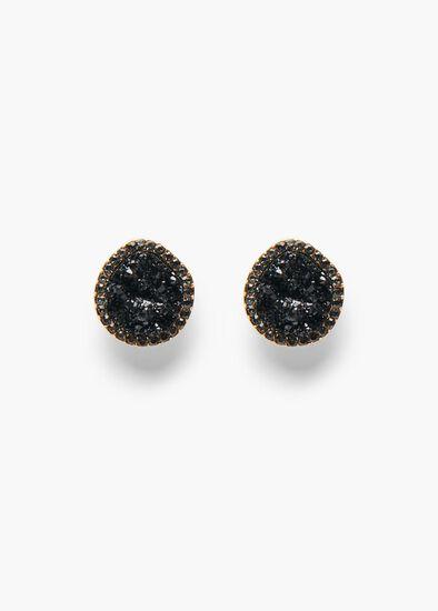 Crusted Crystal Earrings