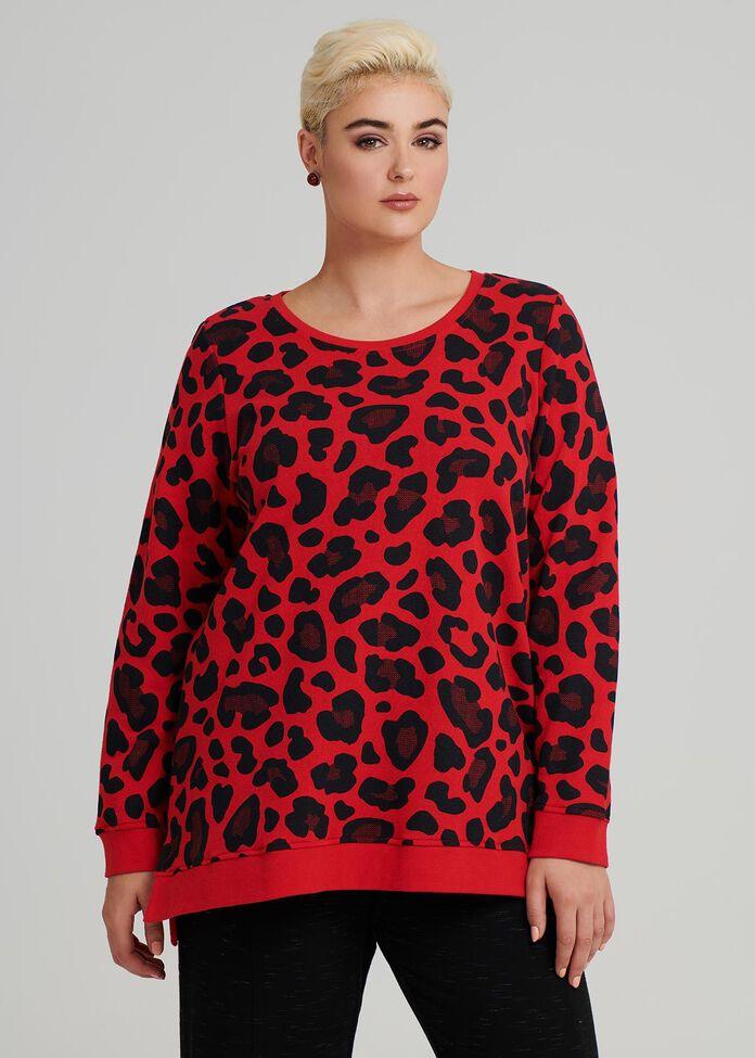 Leopard Luxe Top, , hi-res