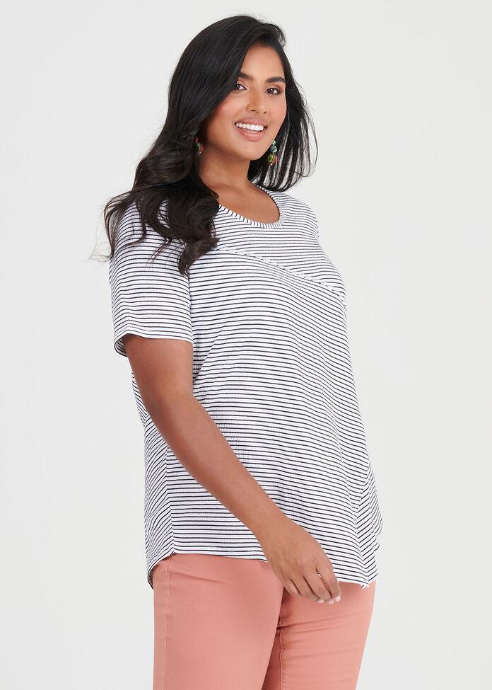 Spliced Stripe Top, , hi-res