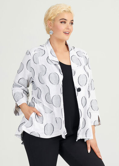 Linen Ascot Jacket