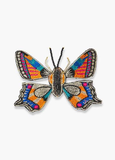 Lurex Butterfly Brooch