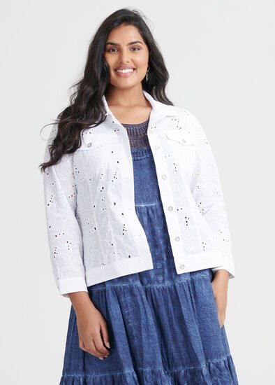 Cotton Broderie Jacket