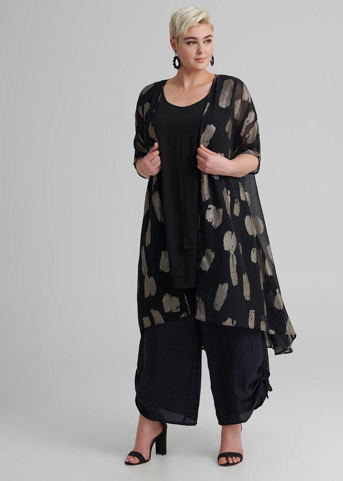 Rosy Reflections Kimono, , hi-res