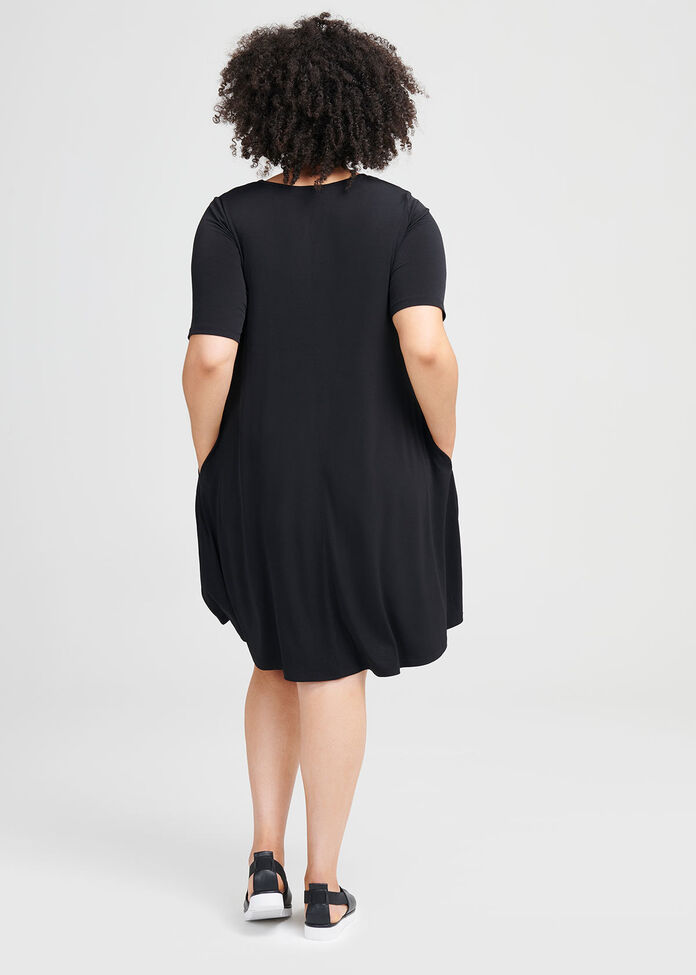 Day To Night Short Sleeve Dress, , hi-res