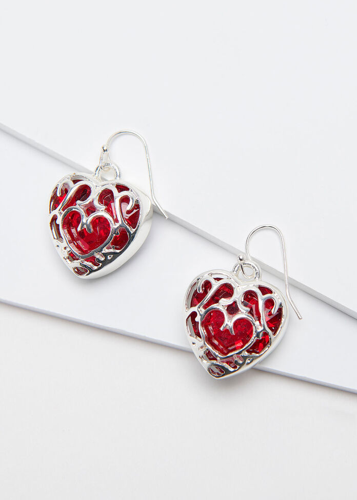 Faceted Filigree Earrings, , hi-res