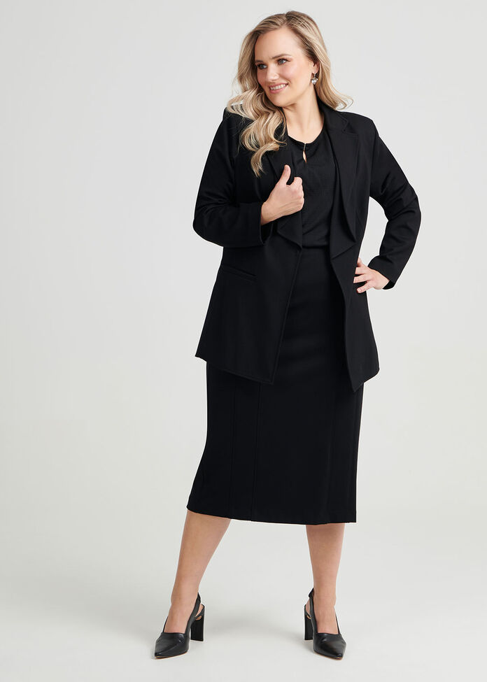 Gina Panelled Ponte Skirt, , hi-res