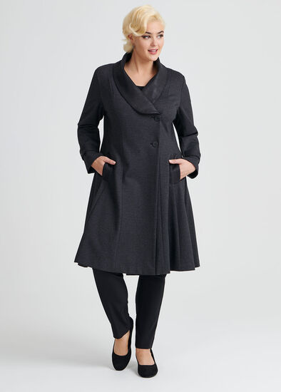Herringbone Ponte Coat