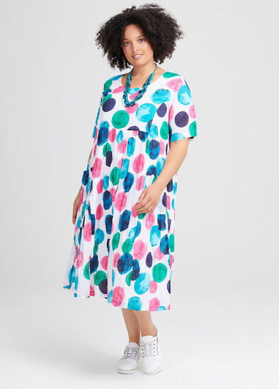 Cotton Abstract Art Dress