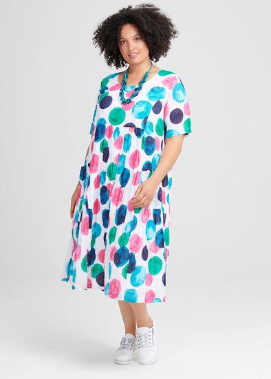 Cotton Abstract Art Dress