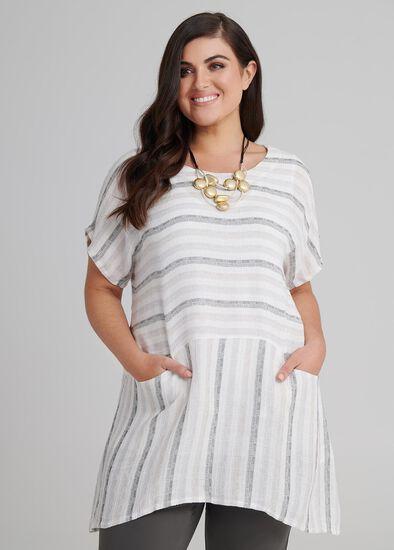 Elle Stripe Linen Tunic