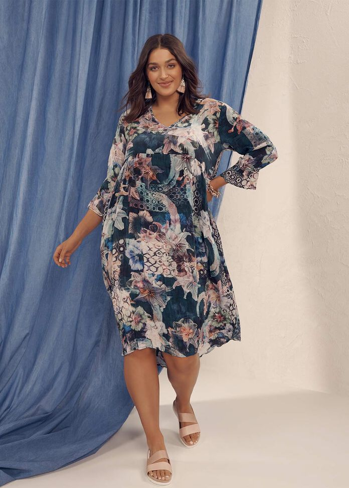 Natural Shannon Tiered Dress, , hi-res