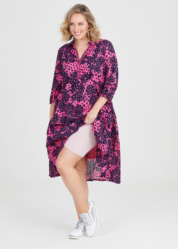 Cotton Petal Pop Dress, , hi-res
